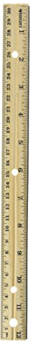 "Westcott Hole Punched Wood 12"" Ruler English and Metric With Metal Edge 12 Rulers"