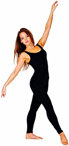 Stretch is Comfort Women's Plus Size Teamwear Cotton Tank Unitard Black XX-Large