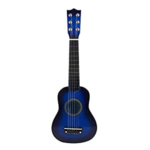gerFogoo LingNuo Kids Guitar, 21 Inch Acoustic Guitar with Plectrum Wooden 6-String Toy Guitar Instrument for Girls&Boys…