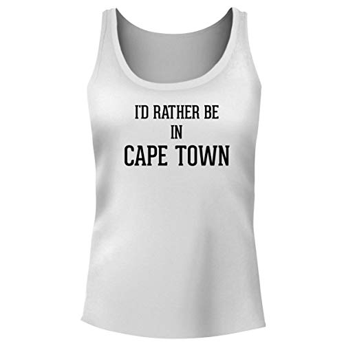 University Of Cape Town South Africa - One Legging it Around I'd Rather Be in Cape Town - Women's Funny Soft Tank Top, White, Small