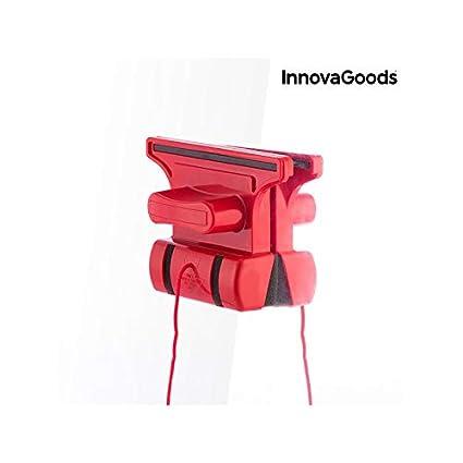 InnovaGoods Limpiacristales Magnético, Rojo, 5x15x11 cm: Amazon.es: Hogar