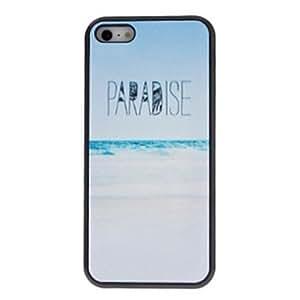 Caso duro hermoso simple diseñado arena blanca patrón playas pc para el iphone 4/4s