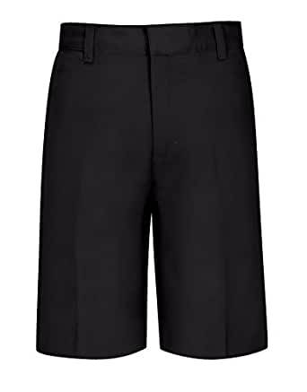 Classroom Big Boys' Uniform Husky Easy-Fit Flat Front Short, Black, 18