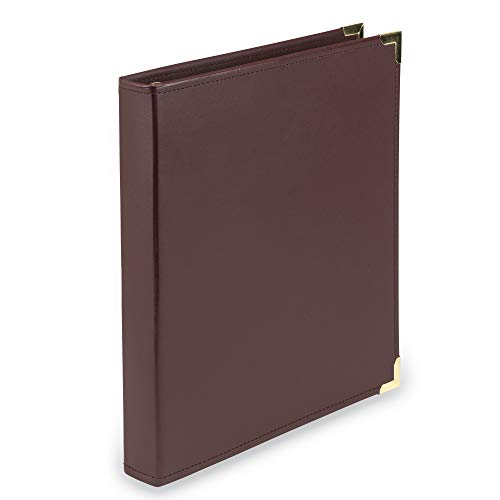 (Samsill Classic Collection Executive Presentation 3 Ring Binder / Portfolio Binder, 1 Inch Binder, Brass Round Ring (Holds 200 Sheets), Burgundy)