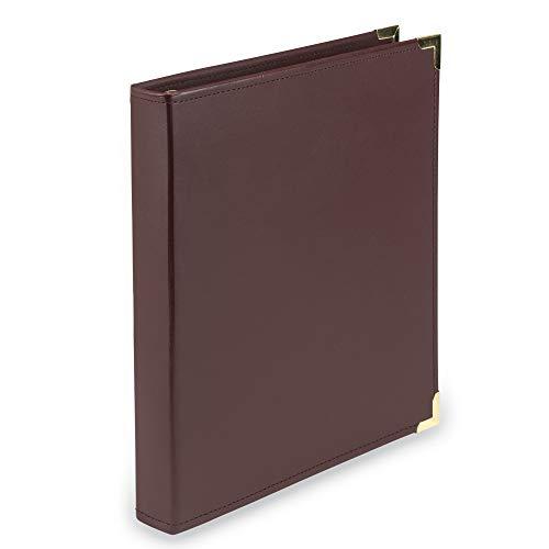 (Samsill Classic Collection Executive Presentation 3 Ring Binder / Portfolio Binder, 1 Inch Binder, Brass Round Ring (Holds 200 Sheets),)