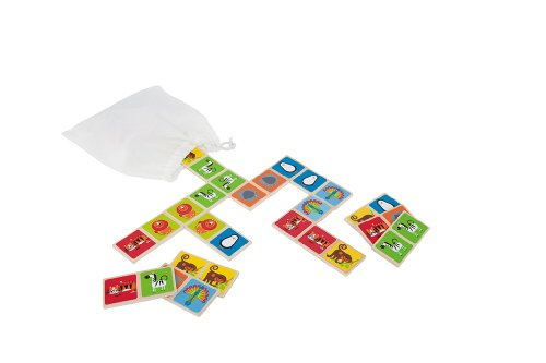 Hape Zoo Animals Wooden Mix and Match Tile Kid's Matching and Memory Game Tile Dot Mix