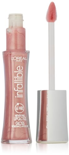 L'Oreal Paris Infallible Never Fail Lipgloss, Petal 105, .21