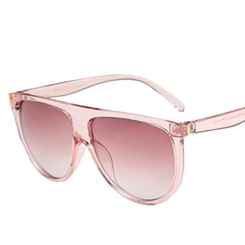 Sunglasses, Mchoice Fashion Unisex Vintage Shaded Lens Thin Glasses Fashion Aviator Mirror Lens Sunglasses (C)