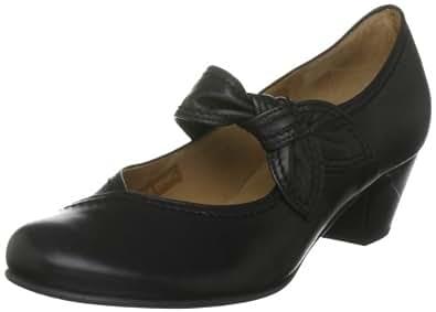 Gabor Henrietta - Zapatos de tacón estilo merceditas para mujer, color negro, talla 38.5