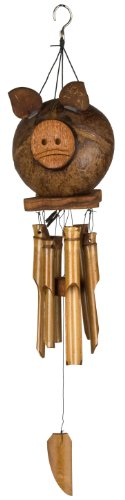 Coco Musical Mobile - Woodstock Chimes CPIG Asli Arts Collection Bamboo Chime, 22-Inch, Coco Pig