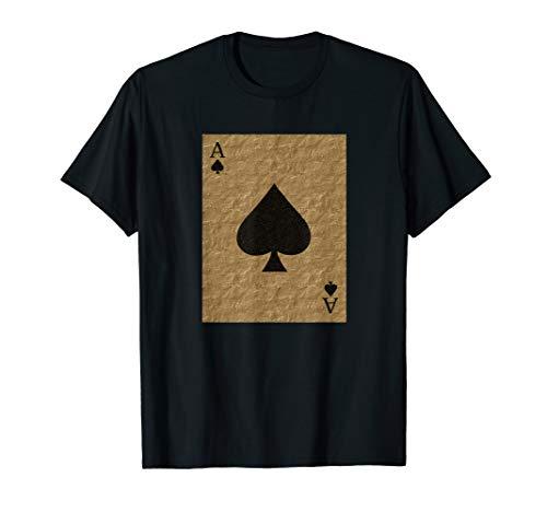 Lucky Gold Ace Of Spades Poker Halloween Costume T-Shirt -