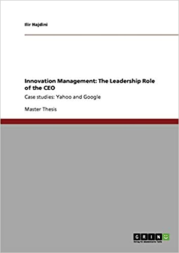 Innovation Management: The Leadership Role of the CEO: Ilir