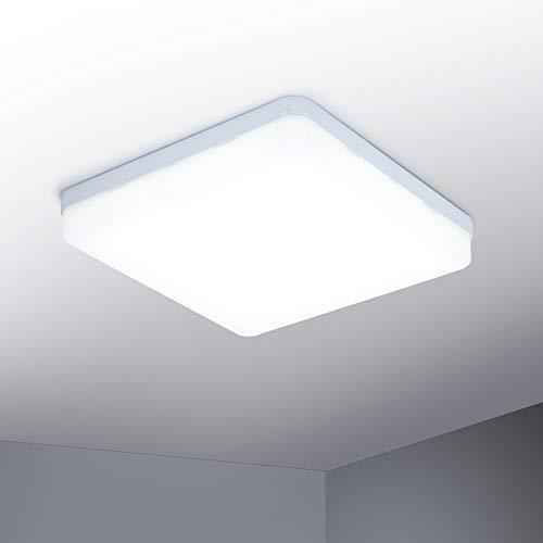 Yafido LED Lampara de techo 36W Moderna Plafon LED luz de techo Cuadrado delgada 3240lm Blanco Natural 4500K para Dormitorio Cocina Sala de estar Comedor Balcon Pasillo