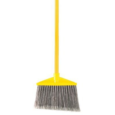 Brute Flagged Broom (Rubbermaid Commercial 640-6375-GRAY Brute Broom -Gray W-Handle Flagged Po)