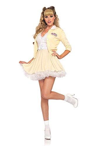 Mememall Fashion Sexy Grease Good Sandy Adult Halloween Costume (Good Sandy Grease Adult Costume)