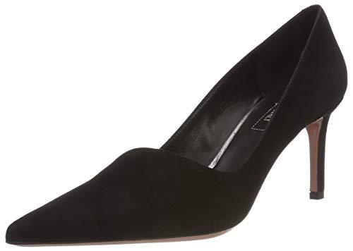 Zapatos tacón Cerrada Nero Punta Oxitaly Nero 02 para de con Stefy Mujer Negro wxqFZA