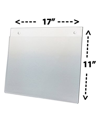 National Display Warehouse, AHS W 17x11 Wall Mountable Ad Print Holder - Pack of 5 by National Display Warehouse