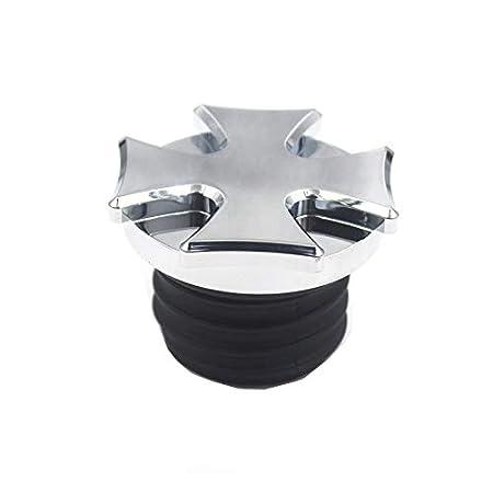 black Cnc billet aluminium cross gear tankdeckel heiz/öl tankdeckel motorrad f/ür harley softail sportster