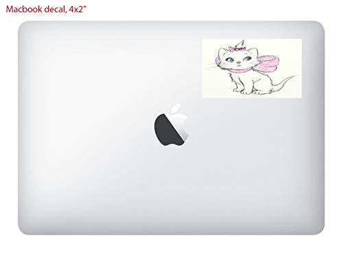 Square 4x2 MacBook Laptop Vinyl Decal Sticker Skin Print/Aristocat Drawn Cute Disney Sketch Printed Design