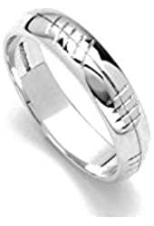 Ogham Wedding Ring Sterling Silver Ladies Handcrafted