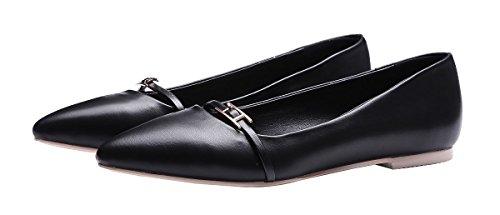 queenfoot Pumpqqa1 - Mocasines de Material Sintético para mujer Negro A