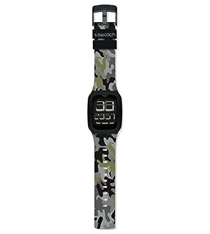 Swatch Reloj Analógico para Hombre de Cuarzo con Correa en Silicona SURB119C: Amazon.es: Relojes