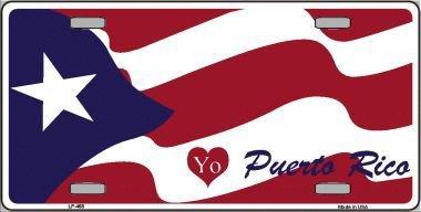 Puerto Metal Rico (Smart Blonde I Love Puerto Rico Metal Novelty License Plate LP-468)