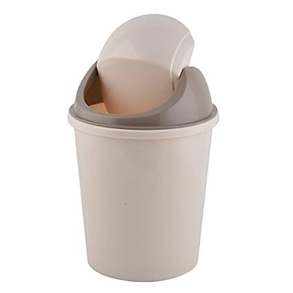 eDealMax plástico de la cocina basura contenedor de residuos de la camada de almacenamiento del Bote de basura de Color Beige café: Amazon.com: Industrial & ...