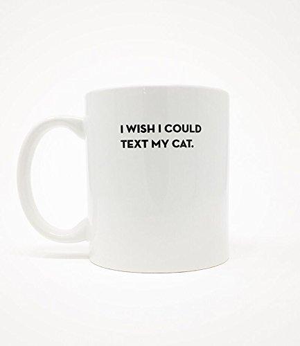 I Wish I CouldテキストMy Cat Mug – 面白いノベルティギフトScreenprintedコーヒーカップ B07452MJDN