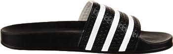 Adidas Originals Men's Adilette Slide Sandal,blackwhiteblack,7 M Us 6