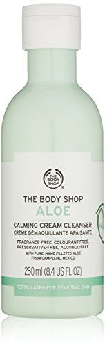 Aloe Cleanser Facial Calming - The Body Shop Aloe Calming Cream Cleanser, 8.4 Fl Oz