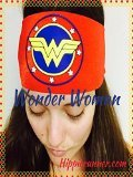 Headbands By Hippie Runner. Polkadots . No Slip, No Drip Headbands For Running, Walking, Exercise (#504 New Wonder Woman)