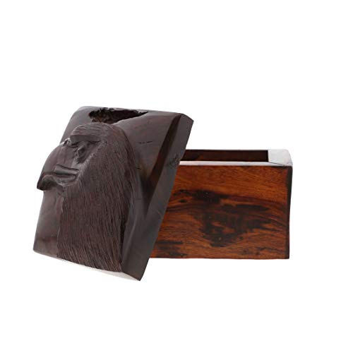 (Li'Shay Ironwood Handcarved Box with Carved Eagle Head )