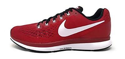 Nike Mens Air Zoom Pegasus 34 TB, Varsity Crimson/White-Black, 10 M US