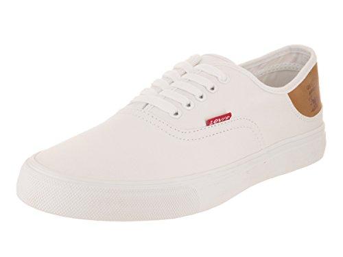 Levi's Men's Jordy Buck Fashion Sneaker, White/Brown, 10.5 M - Buck Sneaker