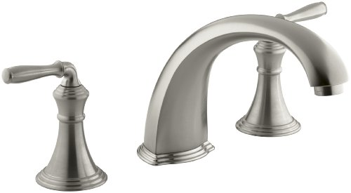 KOHLER K-T398-4-BN Devonshire Deck-/rim-mount Bath Faucet Trim for High-flow Valve with 9 Inch Non-diverter Spout and Lever Handles (Valve Not Included)