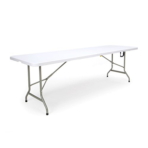 Essentials Center Folding Multipurpose Utility Table - Sturdy Card/Conference/Office/Craft Plastic Table 30