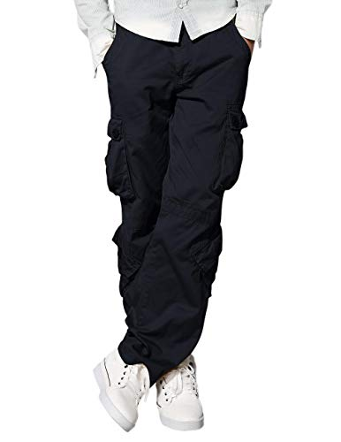 (Match Men's Straight Fit Wild Cargo Pants(30,6064 Grayish Black) )