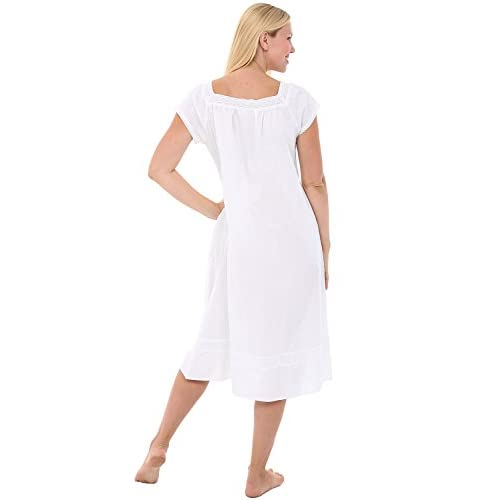durable modeling Del Rossa Womens Charlotte Cotton Nightgown e41f6d66b
