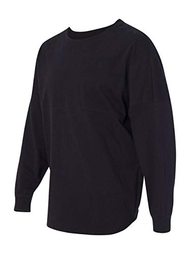 Ladies Game Day jersey Long sleeve T-Shirt, Black, Large (Billboard Tshirt)