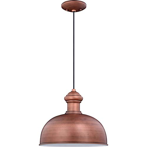 Outdoor Pendant 1 Light Fixtures with Brushed Copper Finish Steel Material Medium 13