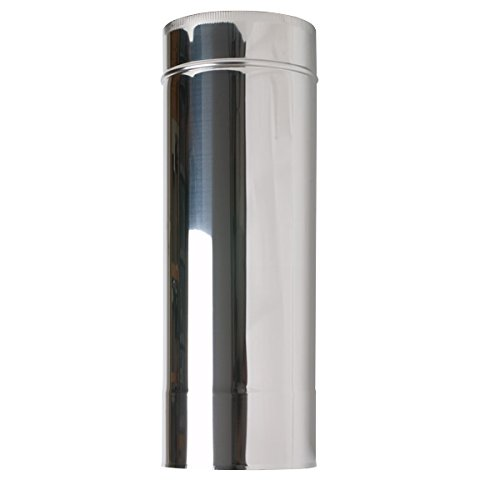 Shieldmaster 5 500mm Length Stainless Steel Twin Wall Insulated Flue Pipe Solid Fuel