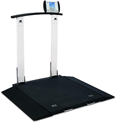 Detecto 6560 Portable Electronic Physician Handrail Wheelchair Weigh Scale