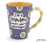 Burton 9716068 I'm A Grandma, What's Your Super Power, Coffee Mug, 12 oz. Purple