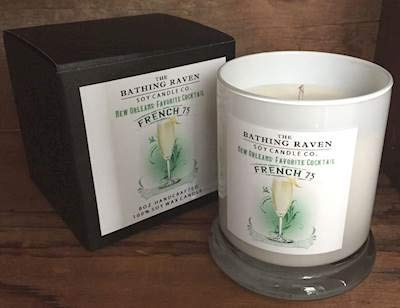 BATHING RAVEN French 75 - The New Orleans Collection Scented Soy 8 oz Gift Boxed Jar Candles (8 Boxed Ounce Jar)