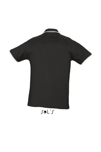 SOLS Contrast-Polo Practice, Black / White, M