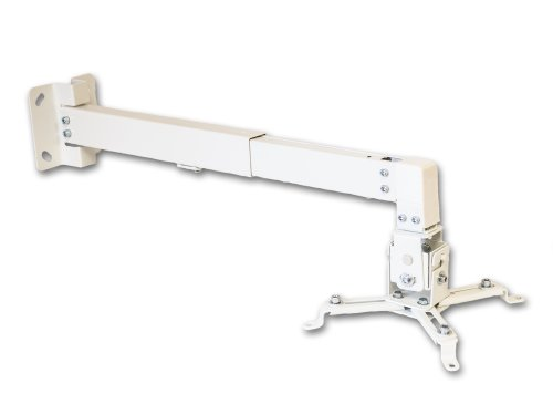 Universal Tilt Projector Ceiling or Wall Mount Bracket DLP LCD - 44 lbs - White (Ceiling Wall Projector Mount)
