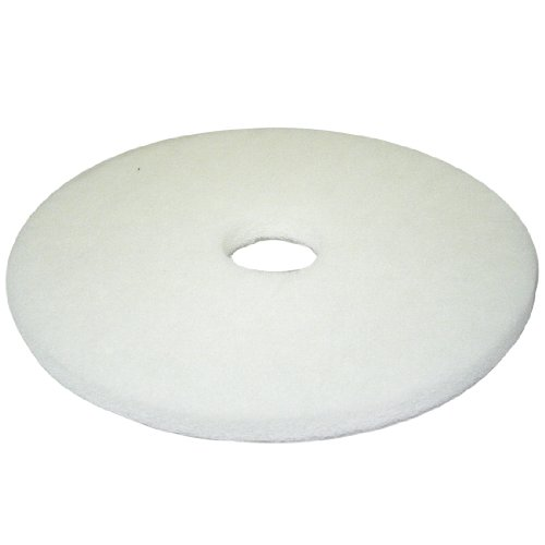 17 inch white non woven floor polishing pad 5 pack for 17 floor buffer pads