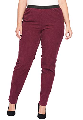Jessica London Women's Plus Size Corduroy Pant - Deep Merlot, 20 W