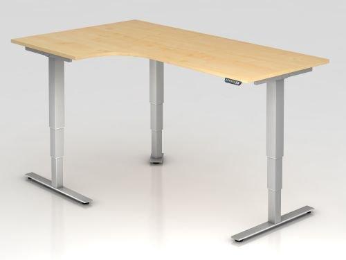 Hammerbacher Schreibtisch XDSM82 Ahorn/silber, VXDSM82/3/S